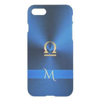 Metallic Blues Zodiac Sign Libra iPhone 7 Case