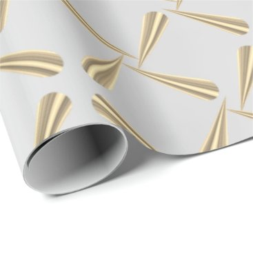 McTiffany Tiffany Aqua Metallic Blush Tiffany 3D Silver Gray Gold Foxier Wrapping Paper