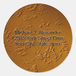 Metallic Bronze Classic Round Sticker