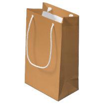 Metallic Bronze-Colored Gift Bag