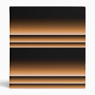 Metallic Bronze Copper Brown Ombre Stripes Binder