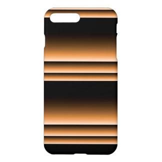 Metallic Bronze Copper Brown Ombre Stripes iPhone 7 Plus Case