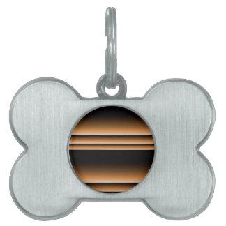 Metallic Bronze Copper Brown Ombre Stripes Pet Tag