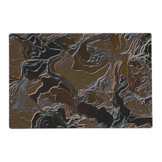 Metallic Brown Camouflage Placemat