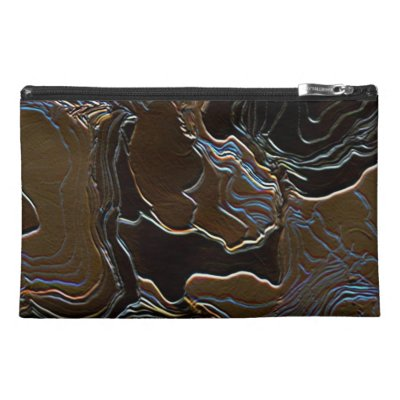 Metallic Brown Camouflage Travel Accessory Bag