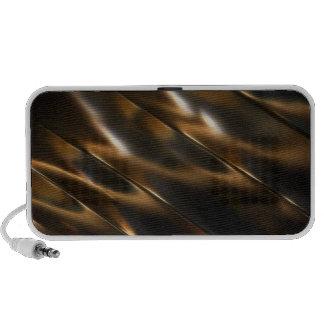 Metallic brown iPod speaker