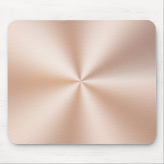 Metallic Brushed Copper Mouse Pad