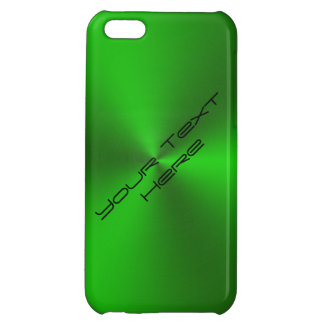 Metallic Brushed Green Case For iPhone 5C