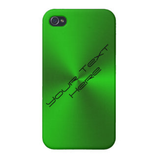 Metallic Brushed Green Cases For iPhone 4