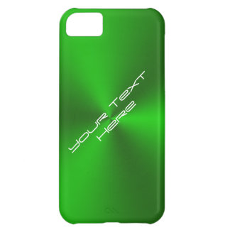 Metallic Brushed Green Cover For iPhone 5C
