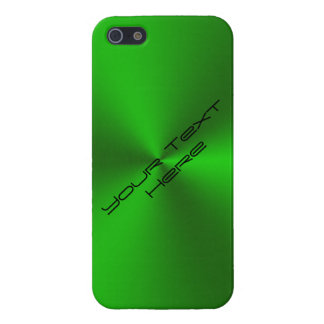 Metallic Brushed Green iPhone 5 Cover