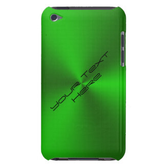 Metallic Brushed Green iPod Touch Cases