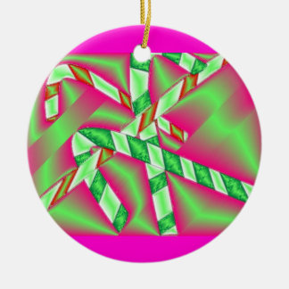 Metallic Candy Canes Christmas Ornaments