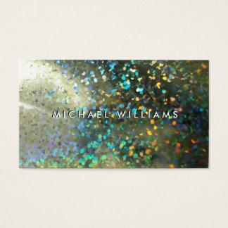 Metallic card with brightness hologram