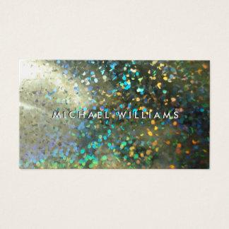 Metallic card with brightness hologram pearl
