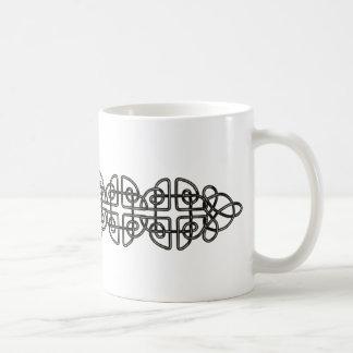 Metallic Celtic Knot Strip Classic White Coffee Mug