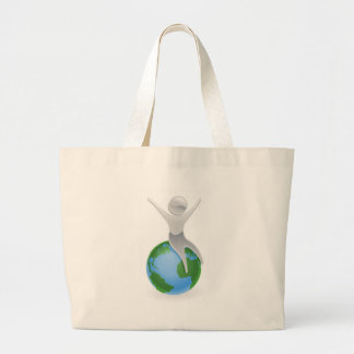 Metallic character on top of the world bags