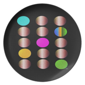 Metallic Circles Party Plates
