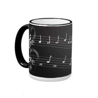 Metallic Clef Mug. Ringer Mug