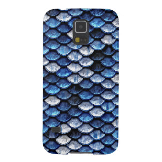 Metallic Cobalt Blue Fish Scales Pattern Galaxy S5 Case