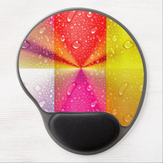 Metallic collage squares with water drops colors gel mousepad