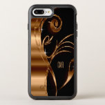 """Metallic Copper Abstract and Black 