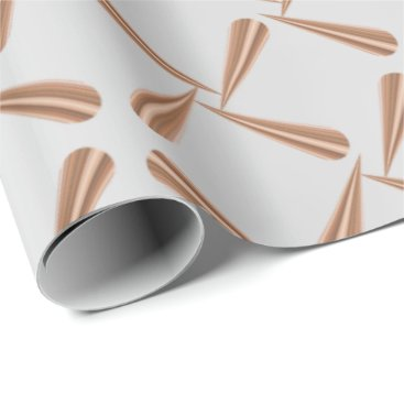 McTiffany Tiffany Aqua Metallic Copper Blush Tiffany 3D Rose Gold Silver Wrapping Paper