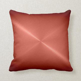 Metallic Copper Stainless Steel Metal Look Pillows