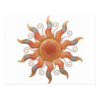 METALLIC COPPER SUN SCULPTURE POST CARD