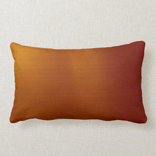 Metallic Copper Throw Pillow Zazzle
