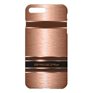 Metallic Copper Tone With Stripes Design iPhone 8 Plus/7 Plus Case