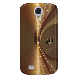 Metallic Copper Tones Stainless Steel Look Galaxy S4 Cover