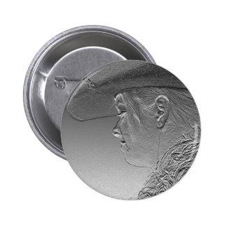 metallic cowgirl pinback button