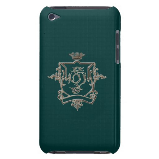 Metallic crest on colored background ipod case Case-Mate iPod touch case
