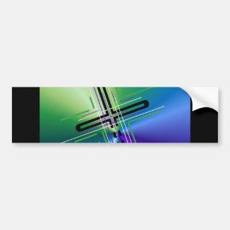 Metallic Crucifix. Car Bumper Sticker