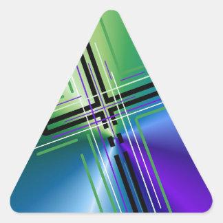Metallic Crucifix. Triangle Sticker