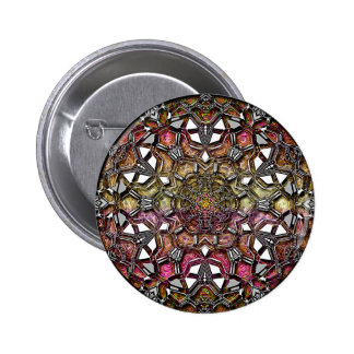 Metallic Crystal Mandala Buttons