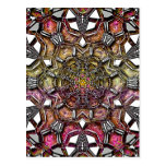 Metallic Crystal Mandala Postcard