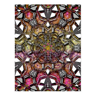 Metallic Crystal Mandala Postcard