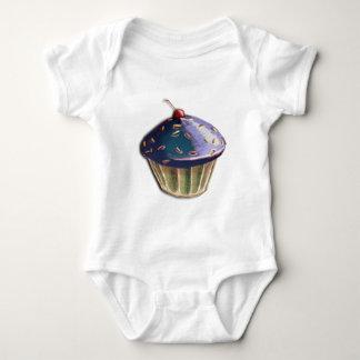 Metallic Cupcake Baby Bodysuit