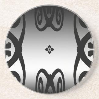 Metallic Curlicues Sandstone Coaster