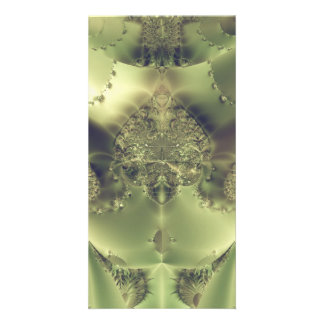 Metallic Curtain Photo Card Template