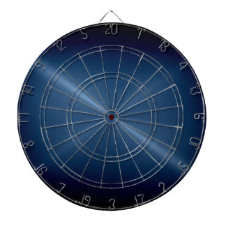 Metallic Dark Blue Stainless Steel Metal Look Dartboard