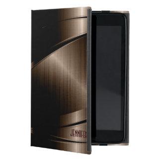 Metallic Dark Brown Brushed Aluminum Look Covers For iPad Mini