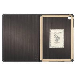 Metallic Dark Brown Monogram Brushed Aluminum Look iPad Air Case