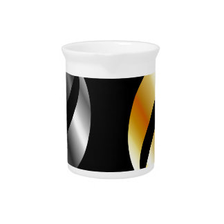 Metallic design elements beverage pitchers