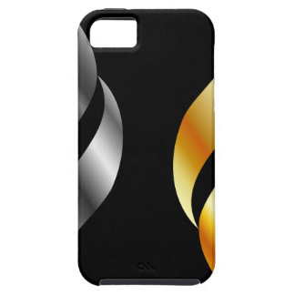 Metallic design elements iPhone SE/5/5s case
