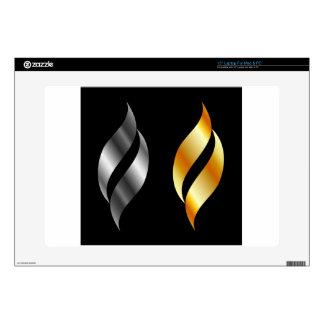 "Metallic design elements skin for 15"" laptop"