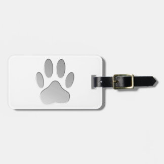 Metallic Dog Paw Print Tags For Bags