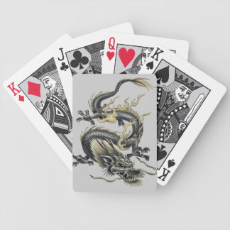 Metallic Dragon Bicycle Playing Cards